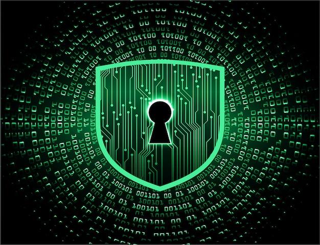 Closed padlock on digital background Premium Vector
