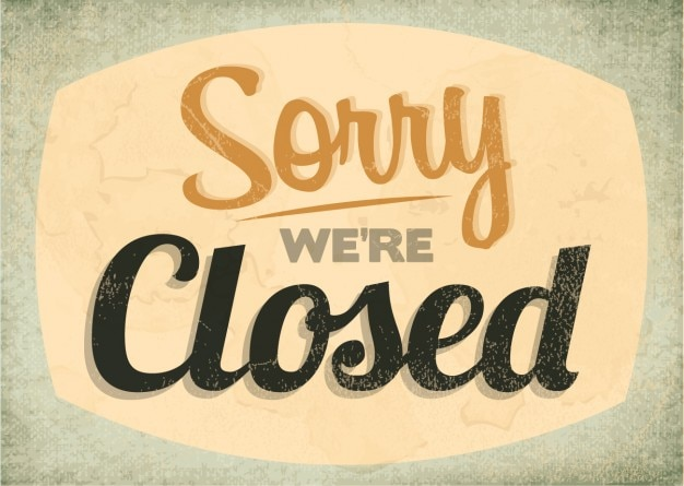 Image result for closed sign