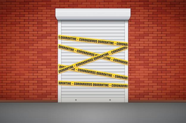Closed store due to epidemic. Premium Vector