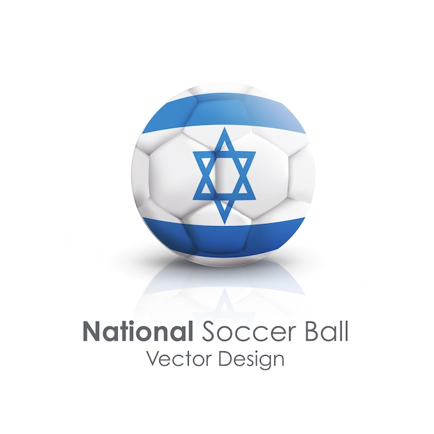 Closeup sport soccer icon sphere Free Vector