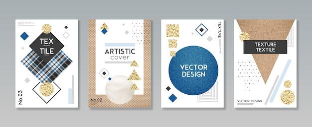 Ткань ткань текстильный чехол набор Бесплатные векторы