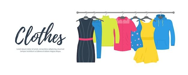 Одежда и аксессуары набор иконок моды. новая модная коллекция. Premium векторы