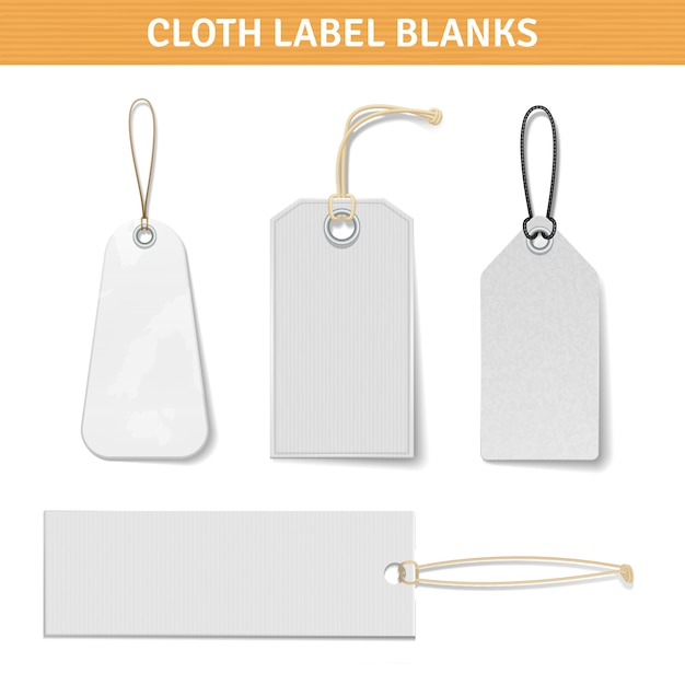 Clothes label tags set Free Vector
