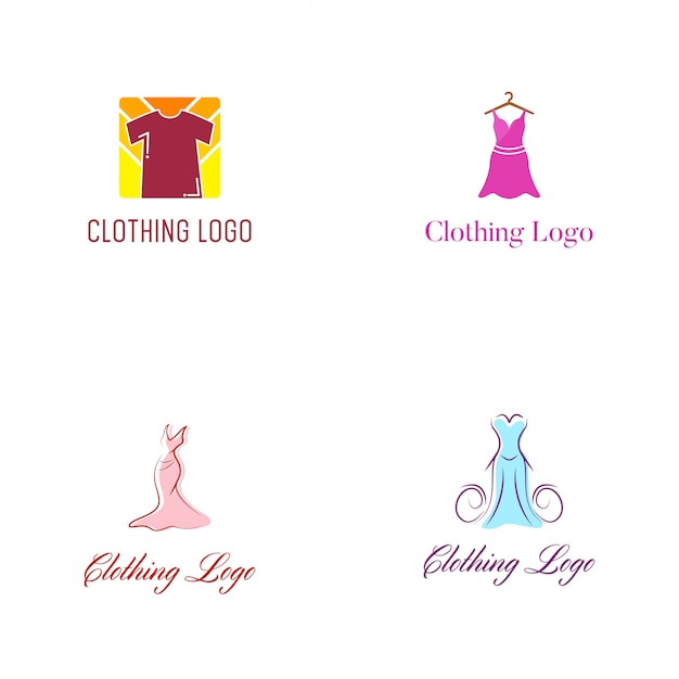 Clothing logo vector design template Premium Vector