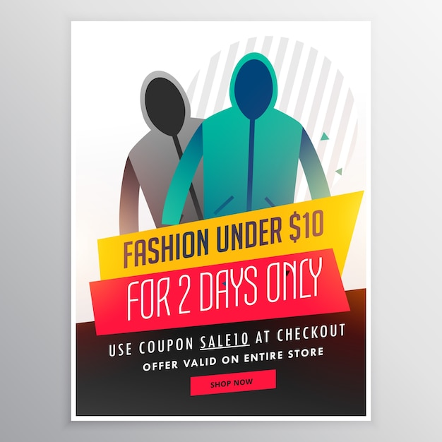 Clothing sale brochure Free Vector