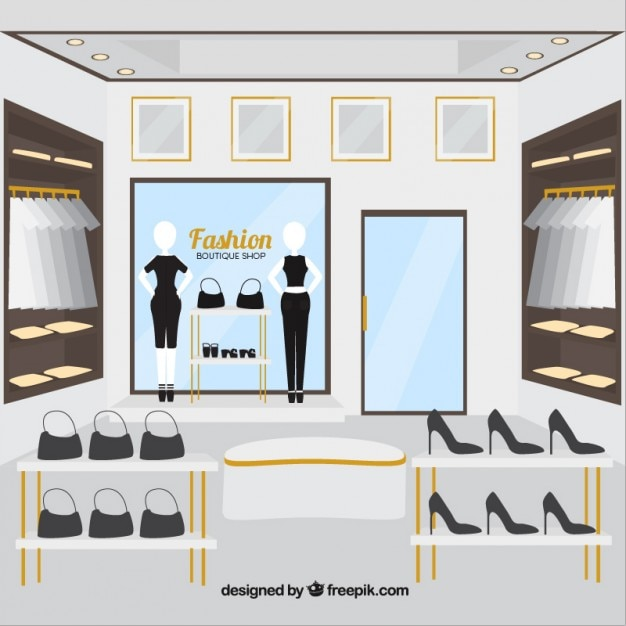 Clothing store, inside view