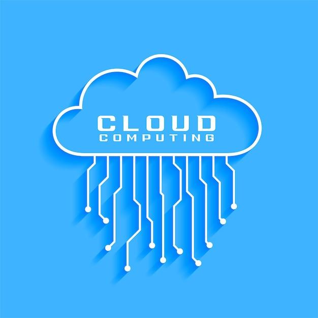 Cloud computing concept with circuit diagram design Free Vector