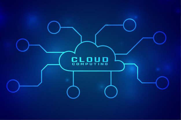 Cloud computing digital technology concept connection Free Vector