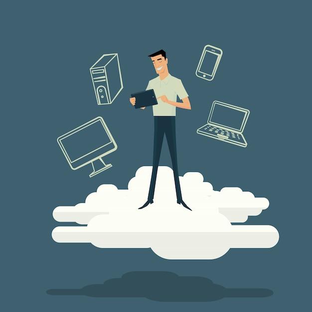Cloud computing internet concept Premium Vector