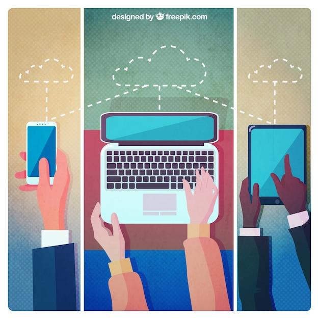 Cloud computing Free Vector