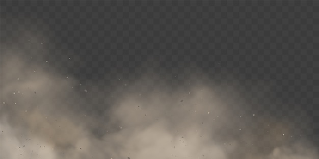 Cloud condensation or white smoke on transparent background. Premium Vector