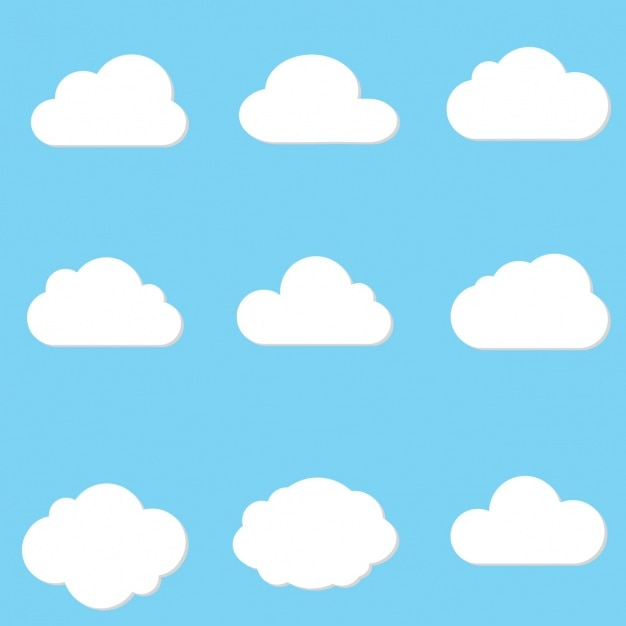 Cloud designs collection Free Vector