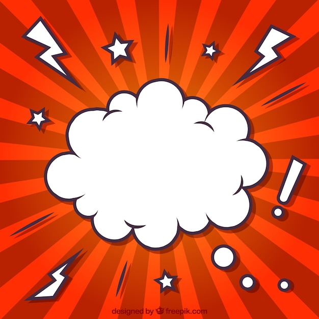 Cloud in comic style Free Vector
