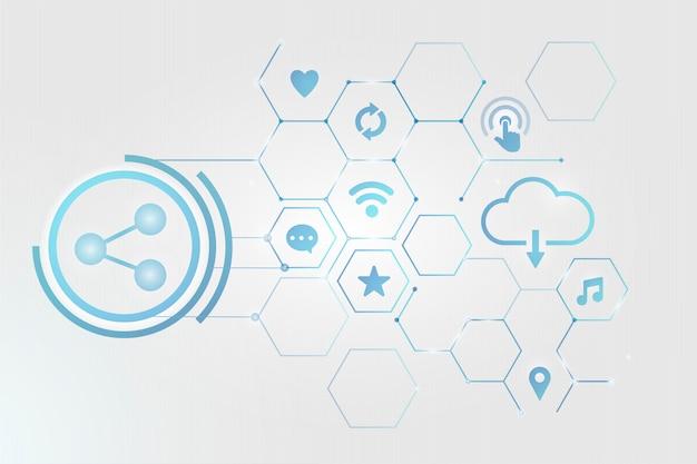 Cloud internet technology Free Vector