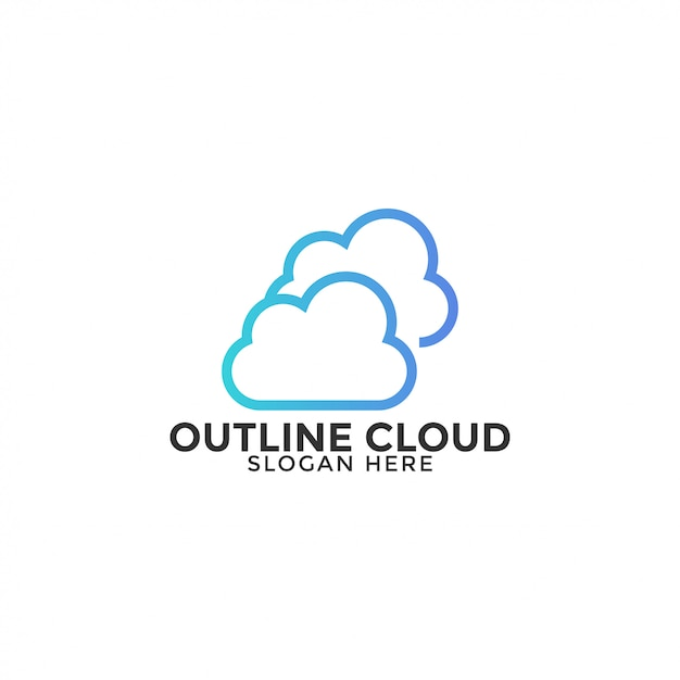 Cloud logo design template vector isolated Premium Vector