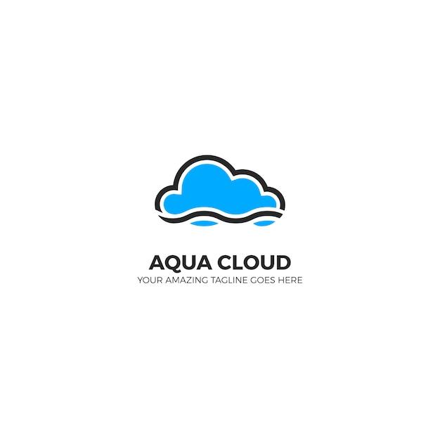 cloud logo design vector free download
