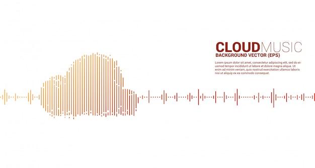Cloud music and sound technology concept .equalizer wave as cloud shape Premium Vector