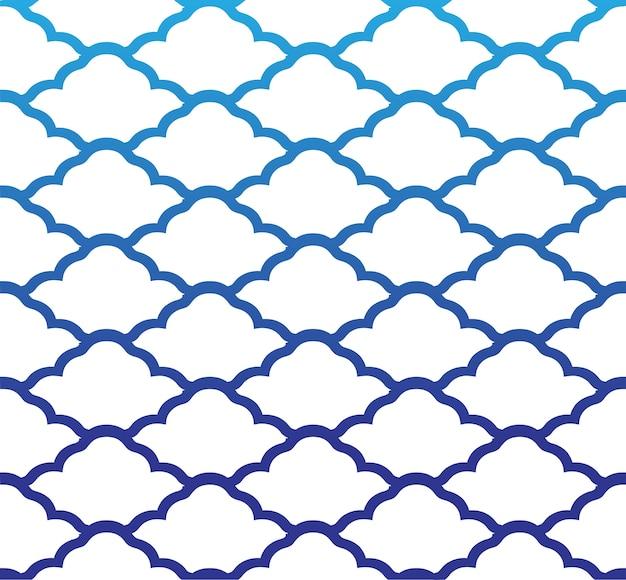 Cloud seamless pattern Premium Vector