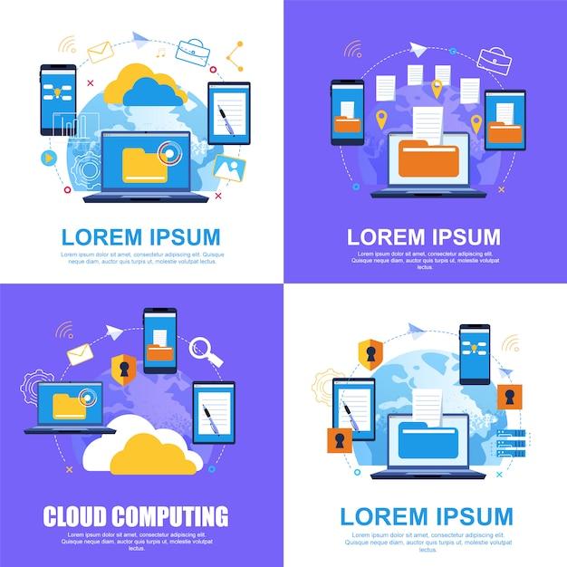 Cloud service. file transfer.cloud computing. Premium Vector