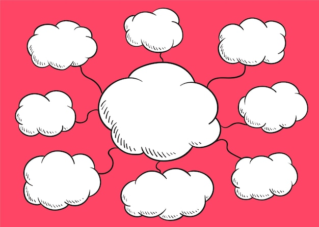 Cloud speech bubble illustration Free Vector