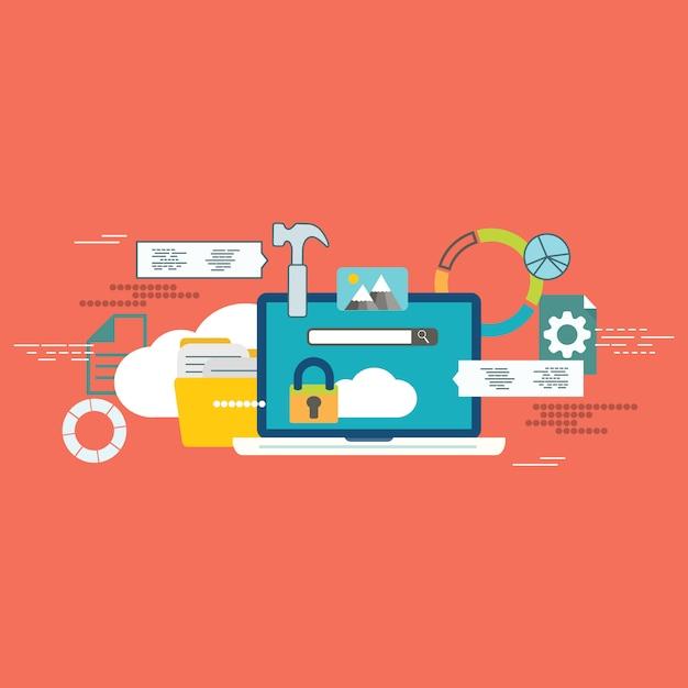 Cloud technology icon Premium Vector