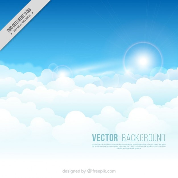 Clouds With The Sun Background Vector Free Download