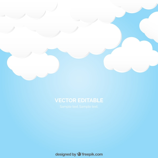 Cloudy sky Free Vector