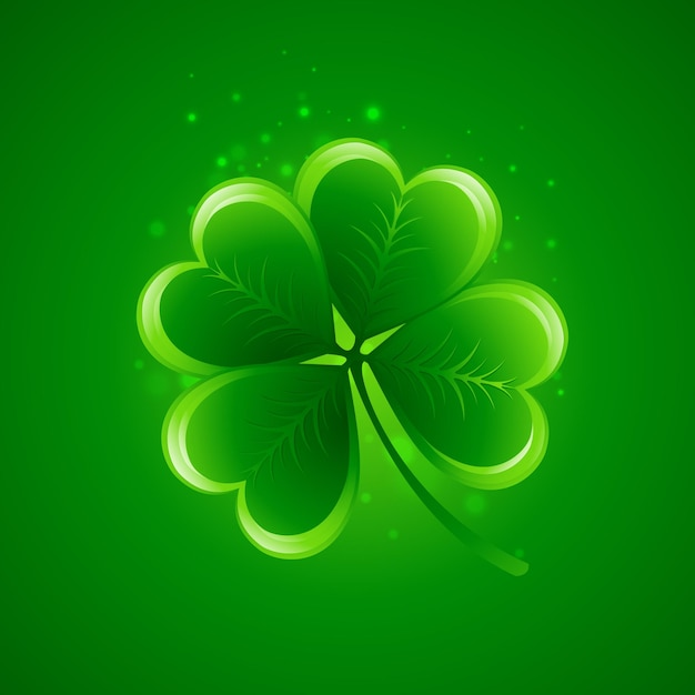 Clover leaf. saint patricks day.  illustration. Premium Vector