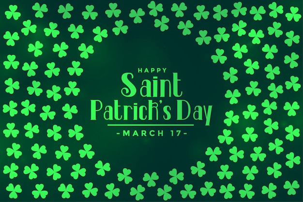Clover leaves pattern for saint patricks day Free Vector