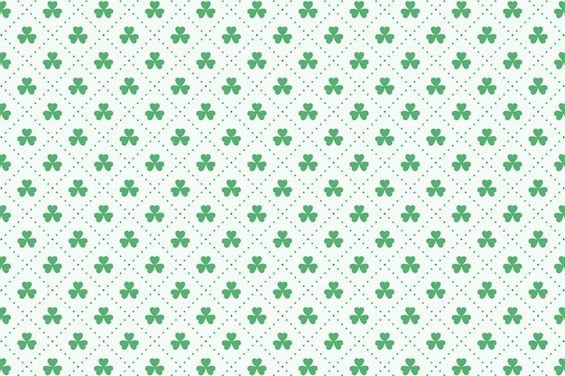 Clover leaves pattern for st patricks day Free Vector