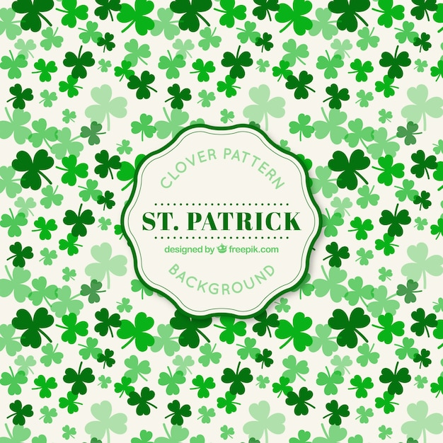 Clover pattern Free Vector