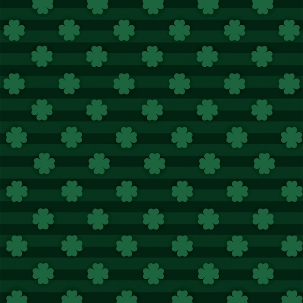 Clovers plants with lines textures background Premium Vector