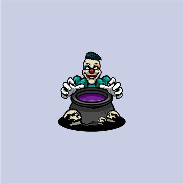 Clown icon Premium Vector