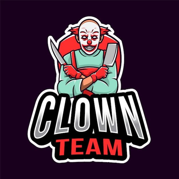 Clown killer esport logo Premium Vector