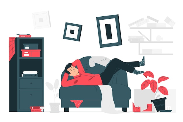 Иллюстрация концепции беспорядка Бесплатные векторы