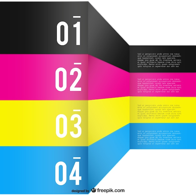 Cmyk background template Free Vector