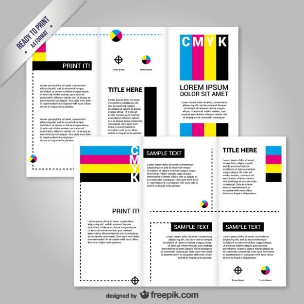 CMYK Brochure Template Vector Free Download - Print brochure templates