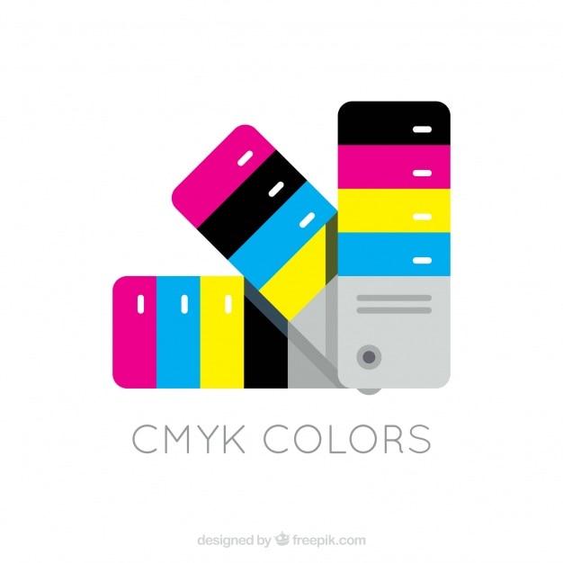 CMYK Chart Free Vector