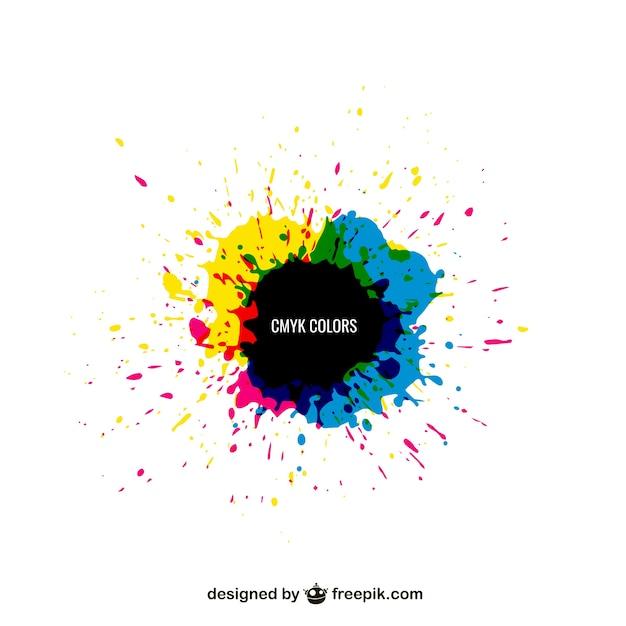 Cmyk colors Premium Vector