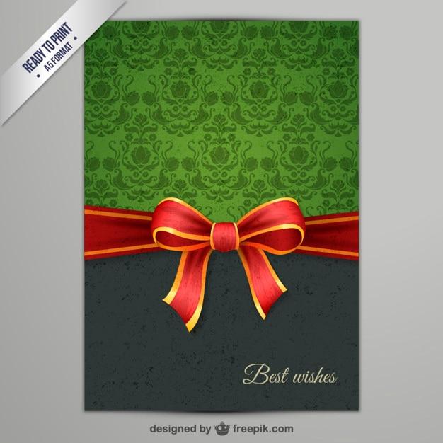 CMYK Elegant Christmas card Free Vector