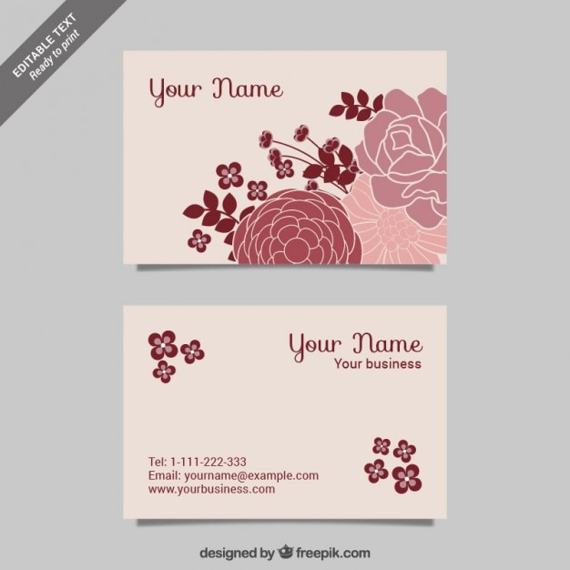 Cmyk floral business cards vector free download cmyk floral business cards free vector reheart Gallery