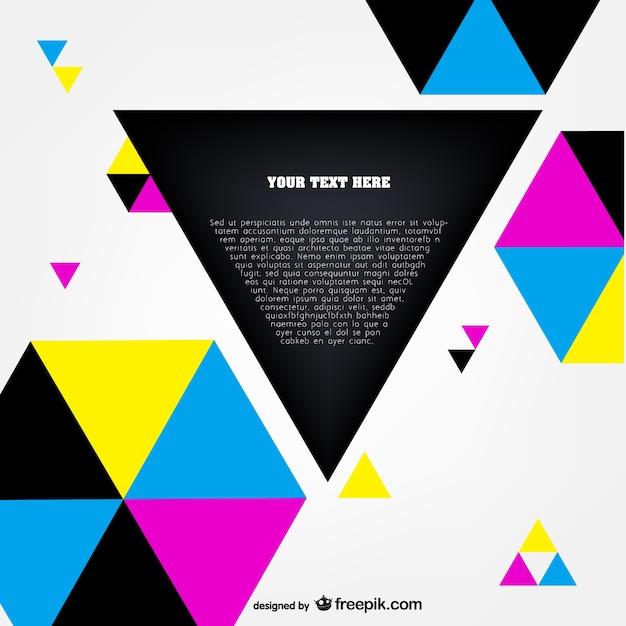 Cmyk polygonal template vector Free Vector