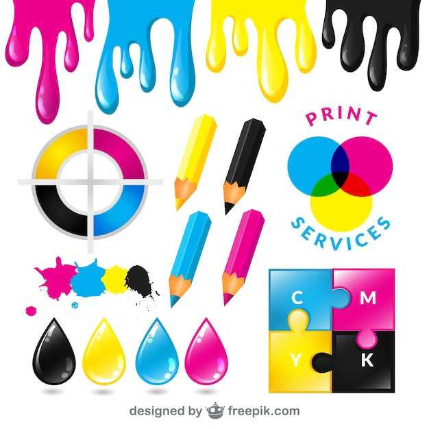 CMYK print services Vector | Free Download