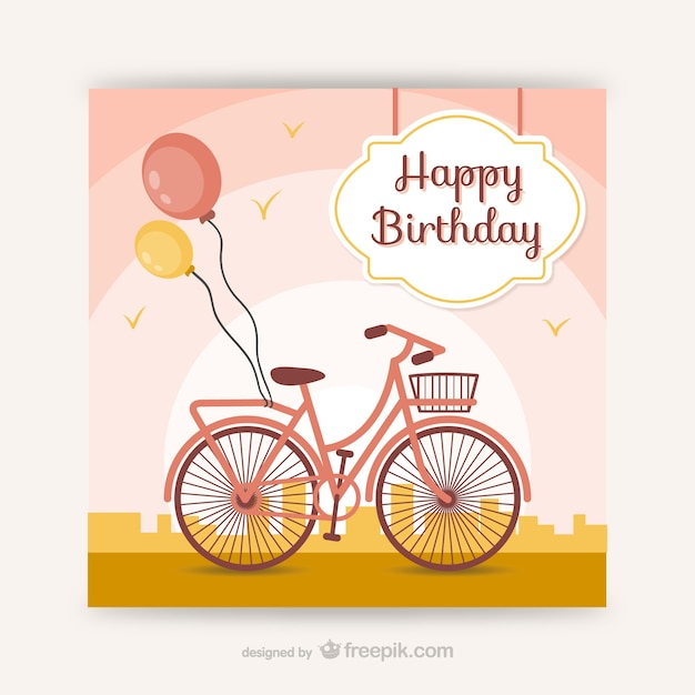 Cmyk Ready To Print Birthday Card Free Vector
