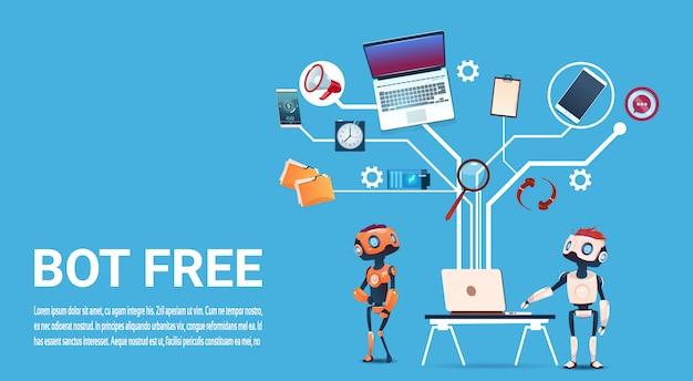 ウェブサイトやモバイルアプリケーション、人工知能coのチャットボット無料ロボット仮想アシスタンス Premiumベクター
