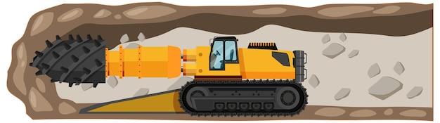 Coal mining roadheader isolated Free Vector