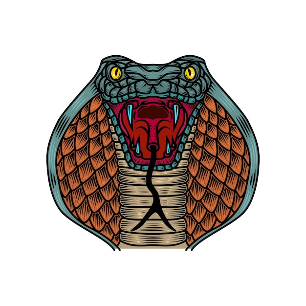 premium vector cobra snake illustration in old school tattoo style element for logo label sign poster t shirt illustration https www freepik com profile preagreement getstarted 10360683