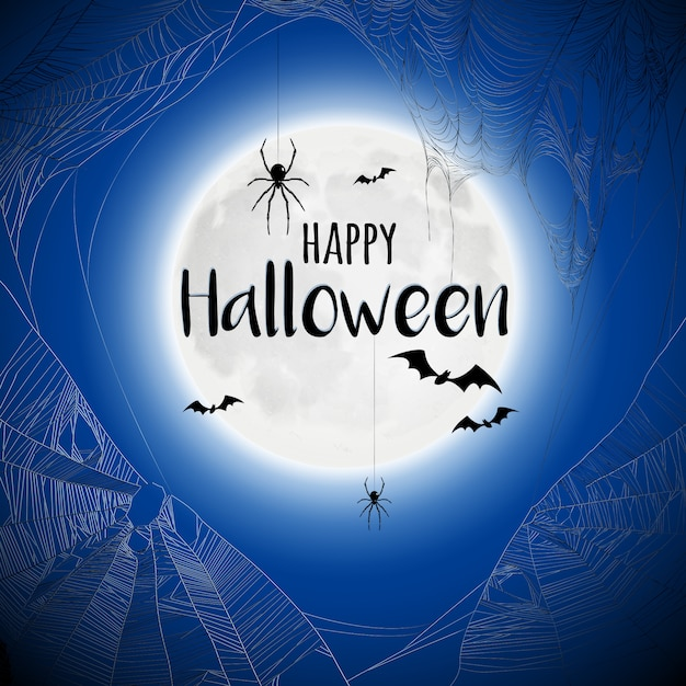 Ragnatela halloween di ragnatela Vettore gratuito