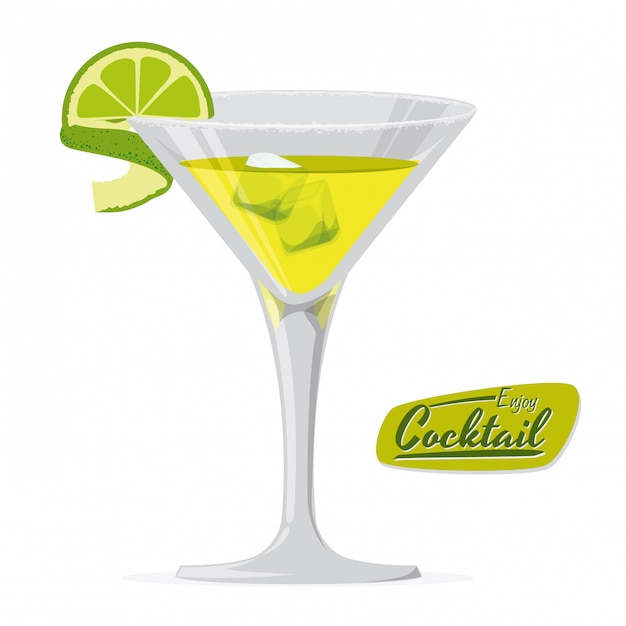 Cocktail design Premium Vector