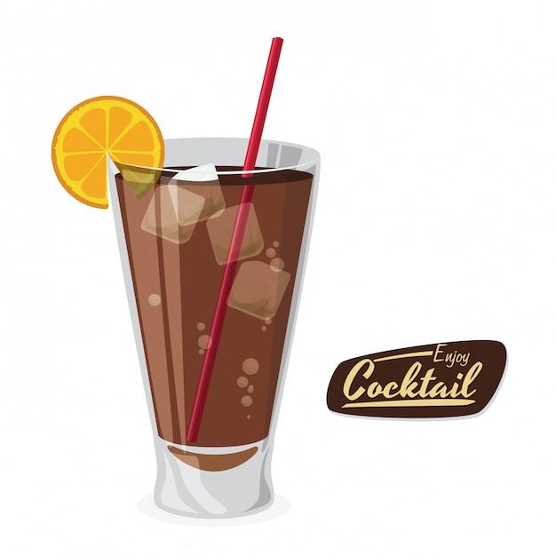 Cocktail design Premium Vector